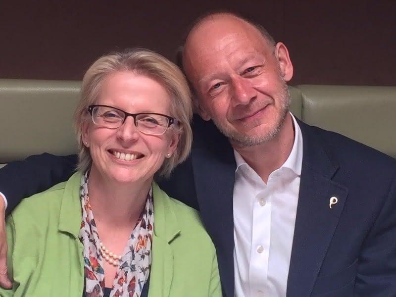 Dr David Enwin met zijn vrouw Dr Jen Unwin