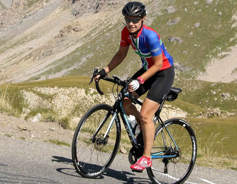 Diabetesverpleegkundige Senta fietst koolhydraatarm