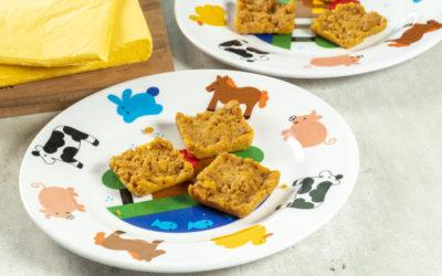 Koolhydraatarme/keto notenfruitreepjes of -koekjes