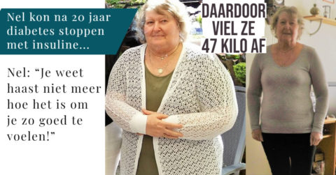 Nel (71) is insulinevrij en 47 kilo lichter