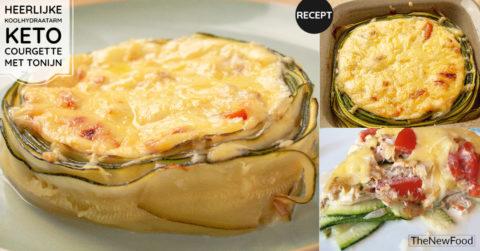 Courgette ovenschotel met tonijn