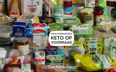 Koolhydraatarm/keto eten op voorraad