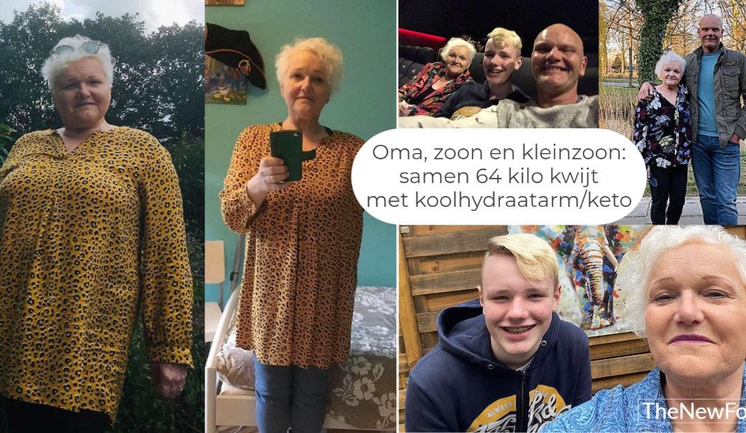 Drie generaties koolhydraatarm/keto