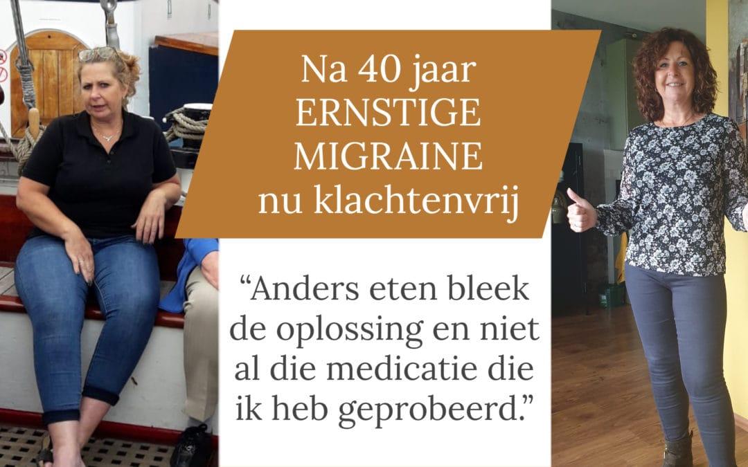 Joyce (57) heeft geen migraine meer