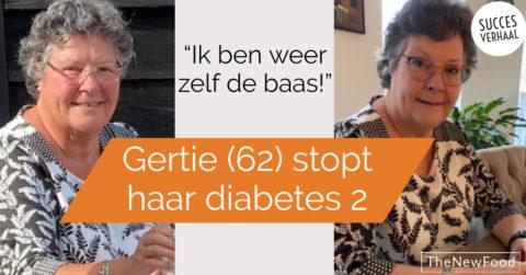 Gertie (62) stopt diabetes 2