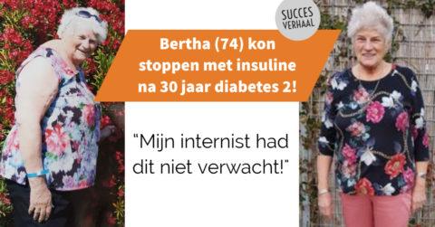 Bertha (74): na 30 jaar insulinevrij