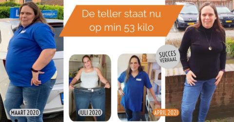 Deborah (45) valt 53 kilo af!