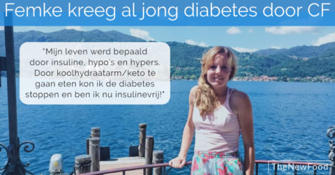 Femke stopt haar diabetes