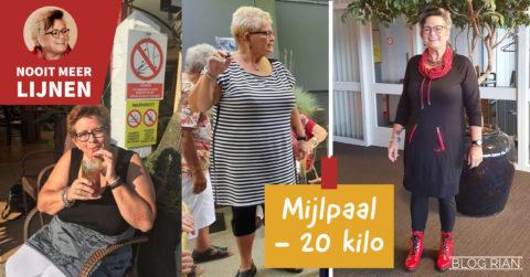 RIAN BLOG 44 Mijlpaal: 20 kilo kwijt!
